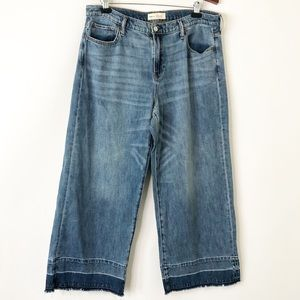 Gap Wide Leg High Rise Jeans